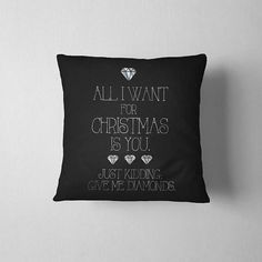 Christmas decoration Christmas pillow All I Want For
