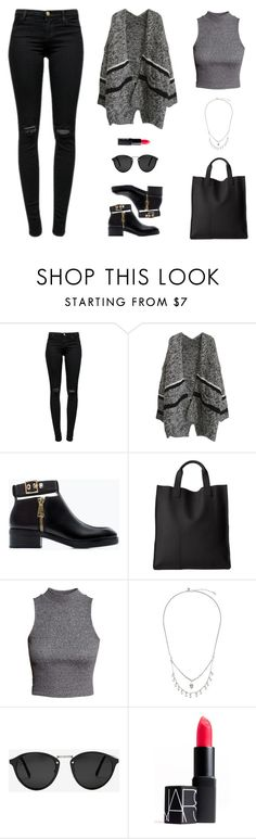 """""""Untitled #527"""" by patrisha175 ❤ liked on Polyvore featuring J Brand, Zara, ECCO, H&M, Zimmermann, Spektre and NARS Cosmetics"""