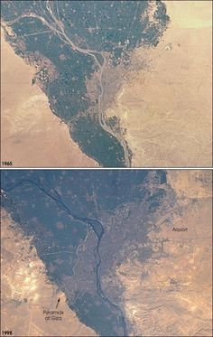 Cairo expansion - up (1965) & down (1998)
