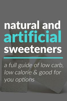 3 Advantages of Artificial Sweeteners