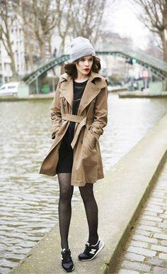 Trench coat et robe outfit. Comment donner un coté sage à vos robes courtes et à ...https://one-mum-show.fr/basiques-garde-robe-trench