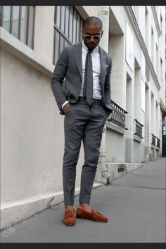 Men's Grey Suit Lookbook - Full Formal Styling | Suits | Pinterest ...
