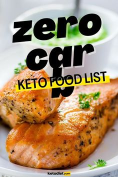 No-Carb Foods: Zero-Carb Foods for Your Keto Diet No Carb Recipes, Snack Recipes, No Carb Food List, Food Lists, Smart Nutrition, Ketogenic Diet For Beginners, Food Labels, No Carb Diets, Healthy Fats