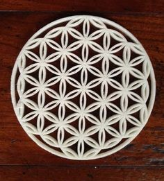 3-D Printed Sacred Geometry Coasters (Set of 4) - evolver - Serving the global community of cultural creatives http://www.evolver.net/products/3-d-printed-sacred-geometry-coasters-set-of-4