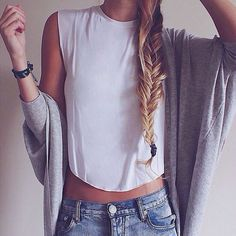 #summer #fashion / monochrome casual outfit