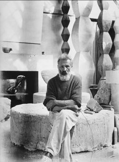 Constantin Brâncuși (February 19, 1876 – March 16, 1957) was a Romanian-born sculptor who made his career in France. As a child he displayed an aptitude for carving wooden farm tools. Formal studies took him first to Bucharest, then to Munich, then to the École des Beaux-Arts in Paris. His art emphasizes clean geometrical lines that balance forms inherent in his materials with the symbolic allusions of representational art.