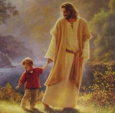 I always see JESUS with children in my dreams, i am there too, as a child. amazing.