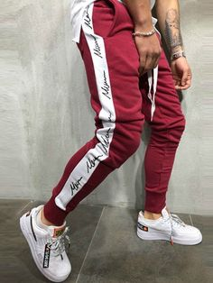 Letter Side Cotton Hip Hop Men's Casual Pants Outfit Hombre Casual, Casual Outfits, Fashion Pants, Fashion Outfits, Womens Fashion, Casual Pants, Men Casual, Ankara Styles For Men, Sweatshirts