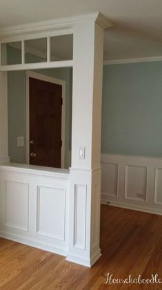 how to make a recessed wainscoting wall from scratch, diy, foyer, how to, wall decor
