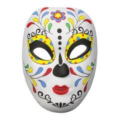 Day Of The Dead Masquerade Mask Multicolour Leaf Design Day Of The Dead Mask, Half Mask, Leaf Design, Mask Design, Masquerade, Creative Design, Pray, Spiritual, Halloween