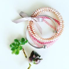 Bracelet bundle ❤️ This cute bundle includes: one silver bangle, two pink beaded bracelets, and one pink water pearl bracelet. ❤️All my jewelry items are buy one get one 50% off. Free beauty gift with $25 purchase. Free shipping with $75 purchase.❤️ Jewelry Bracelets