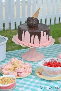 Birthday Cake! by hkatee, via Flickr - Ice cream parlor themed birthday party.