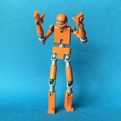 Orange Sherbot by jigsawjo on brickly Robot Lego, Lego Bots, Lego Mechs, Lego Bionicle, Legos, Lego Mini, Cuadros Star Wars, Lego Creator Sets, Lego Craft