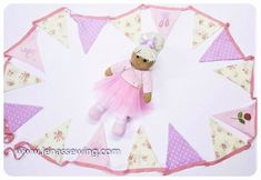 Coming to complete our Ballerina Bedroom set Ballerina Bunting! Great for running across the ceiling or in a wall. Ballerina Bedroom, Ballerina Shoes, Best Baby Gifts, Rag Dolls, Bunting, Dancer, Dots, Cushions, Ceiling