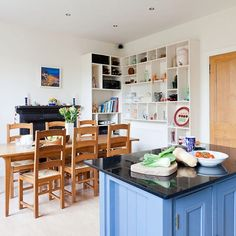 Painted, Shaker-style country kitchen | Colourful kitchen | housetohome.co.uk