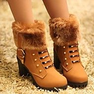 Women's Shoes Fashion Boots Chunky Heel Ankle Boo... – USD $ 17.99