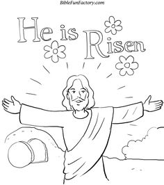 resurrection coloring pages free | Easter Coloring Sheet