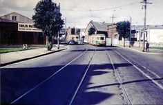 Mitchell Rd. Alexandria.   Anderson Street at right. 1956