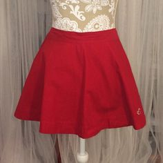 Red Skater Skirt Beautiful Red Skater Skirt Hollister Skirts Circle & Skater