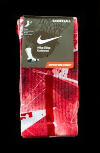 Thesockgame.com Custom Nike elite socks are not sold in stores anywhere...These were created exclusively by thesockgame.comORDER PROCESSING IS 7-10 BUSINESS DAYS BECAUSE OF HIGH DEMAND!!! WE CUSTOM MAKE EACH PAIR ON DEMAND.• Dri-fit fabric that pulls away sweat to help keep you cool and comfortable• Reinforced heel and toe for enhanced durability • Left/Right specific design for a better fit • Supportive fit with arch compression • Stripes up the backPLEASE READ: These are AUTHENTIC Custom…