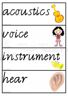 sound theme words cards - 20 diff words