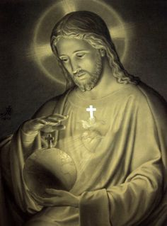 This picture of the Sacred Heart of Jesus was done by the noted Armenian Catholic artist Ariel Agemian, K. for The Imitation of Christ by the Confraternity of the Precious Blood. Catholic Prayers, Catholic Art, Religious Art, Roman Catholic, Pictures Of Jesus Christ, Religious Pictures, Heart Of Jesus, Jesus Is Lord, Image Jesus