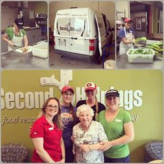 Great times volunteering at second helpings!! We prepared potatoes, onions & collard greens... And got to visit our van in action!