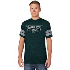Flaunt your love for the Eagles with this Philadelphia Eagles Past the  Limit Marled T-Shirt from Majestic! This shirt is all green with white  accents and ... 948341783