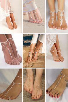 9ebf2edd763b7 Barefoot Bridal Sandals - Sand and barefoot sandals are perfect for a  barefoot walk down the