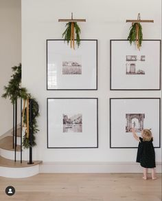 Gallery Wall Frames, Frames On Wall, Travel Gallery Wall, Modern Gallery Wall, Large Frames, Framed Wall, Wall Design, House Design, Entry Wall