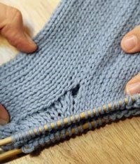 Ten Tips for Knitting Socks - Knitting Daily/Blogs - Avoid gusset hole, gives sites to go to. I pick up St's with Cr hook, K 1 row, then start...works better then not, for me :)