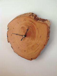 Huon pine clock