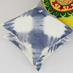 Decorative Pillow Cases Indian Art Tie Dyed Indigo Blue Cushion Covers Interior Home Sofa Cushions Christmas Gifts Shibori Gypsy Pillows Star Blanket, Blue Blanket, Blue Cushions, Cushions On Sofa, Blue Cushion Covers, Pillow Covers, Shibori Tie Dye, Indigo Dye, Decorative Pillow Cases