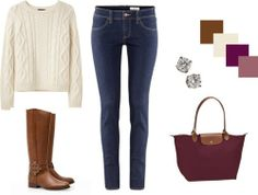 Longchamp tote - Tory Burch boots - lovely outfit - Similar Tote on http://www.donnabelladesigns.com/lightweighttote-p/tp52171.htm