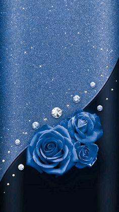 Phone Background Wallpaper, Bling Wallpaper, Luxury Wallpaper, Cellphone Wallpaper, Flower Wallpaper, Wallpaper Backgrounds, Iphone Wallpaper, Light Blue Roses, Blue Flowers
