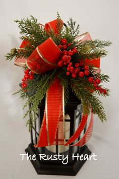 Christmas Lantern Swag by TheRustyHeart on Etsy, $19.99