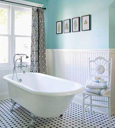 Banheiro decorado em tons frios e suaves | Eu Decoro