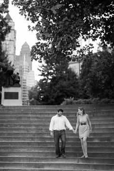 Anna and Spencer Photography , Piedmont Park Atlanta Engagement Session .