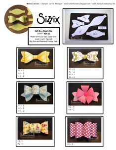 handmade Gift Bow Ideas ... using Sizzix bow die cuts ...