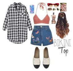 """""""Bikini Top Style"""" by valenlss ❤ liked on Polyvore featuring SHE MADE ME, Valentino, Chanel, Dolce&Gabbana, Lilly Pulitzer, Cartier and Jean-Paul Gaultier"""