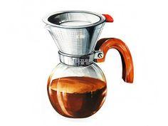커피포트 개체묘사