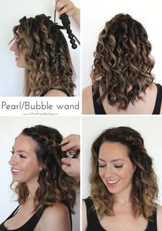 This quick infographic and tutorial will give you a visual quick and easy braided hairstyle with pearl bubble curling wand this quick infographic and urmus Gallery