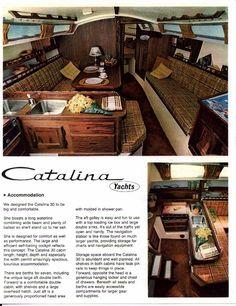We had a Catalina 30' sailboat, nearly this exact interior