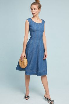 6fe69df2d STYLE: Swap Your Jeans For These 11 Denim Dresses #denimdresses dresses,  denim dresses