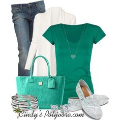 Teal - Polyvore