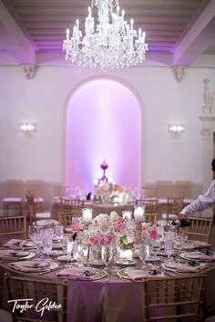 Low white and pink floral wedding centerpiece. Houston based world-wide award-winning photographer. www.taylorgolden.com