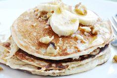 Homemade Caramel Banana Pancakes