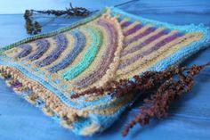 Saturnalia. Striped Snood / scarf collar turquoise mustard