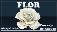FLOR CON CAJA DE HUEVO