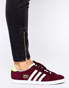 Adidas | Adidas Gazelle Maroon Trainers at ASOS
